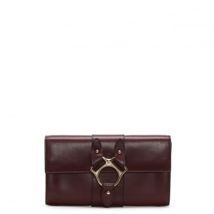 Folly Burgundy Leather Travel Wallet