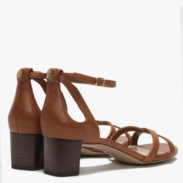 ff2583f861c Lauren Ralph Lauren Folly Tan Leather Block Heel Sandals