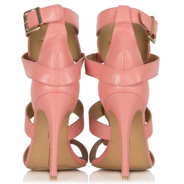 0122c23d89a Pink Leather Divine Embellished T Bar Sandal