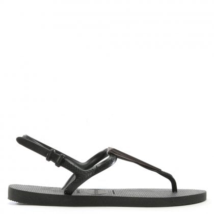Freedom Black Toe Post Flip Flops