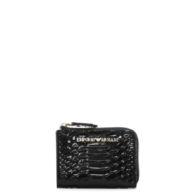 Frida Black Reptile Continental Wallet