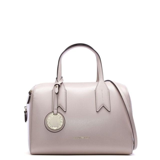 b8c5010a2e Emporio Armani Frida Pink Textured Top Handle Bowling Bag