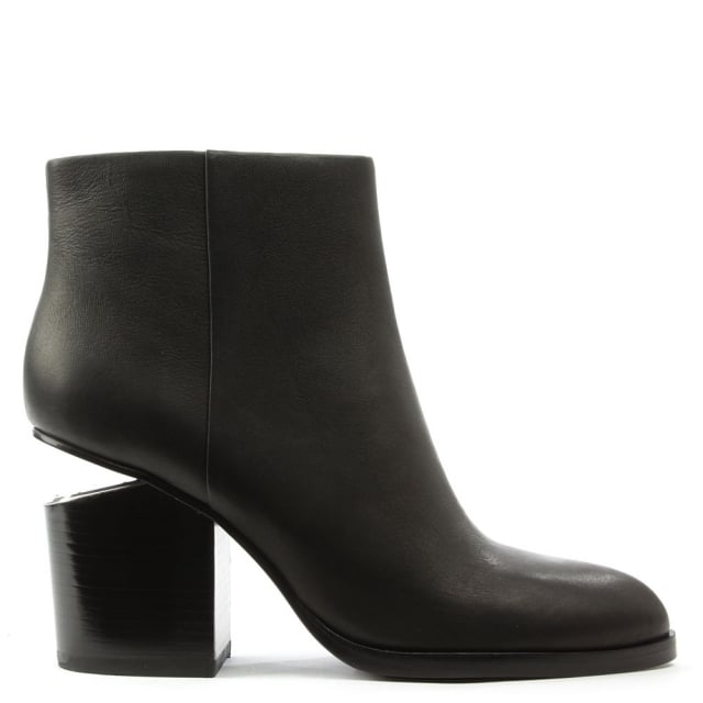 Gabi Black Leather Ankle Boot