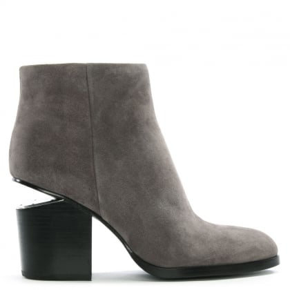 Gabi Grey Suede Ankle Boots