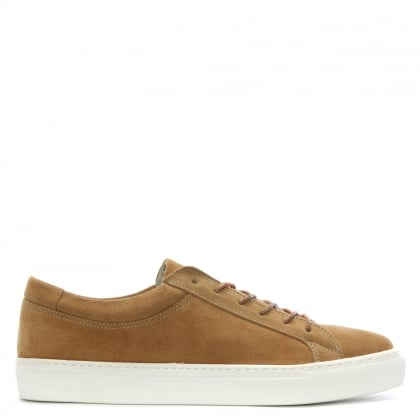 Galaxy Tan Suede Lace Up Trainers