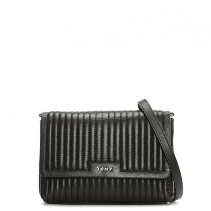 Gansevoort Black Leather Quilted Cross-Body Bag