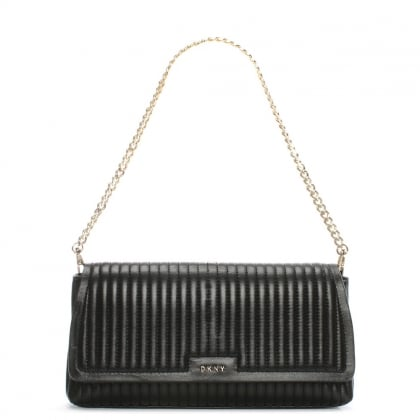 Gansevoort Black Leather Quilted Shoulder Bag