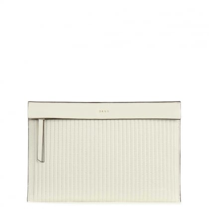 Gansevoort Cream Leather Pouch