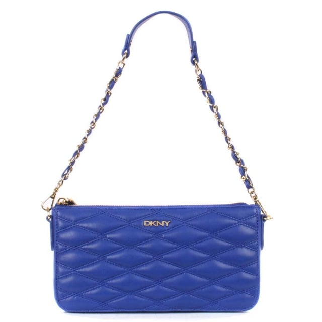 Gansevoort Electric Blue Quilted Nappa Cross-Body Bag