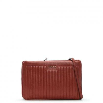 Gansevoort Pinstripe Oxide Leather Cross-Body Bag