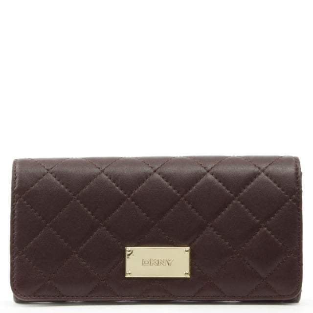 Gansevoort Quilted Carryall Burgundy Leather Wallet