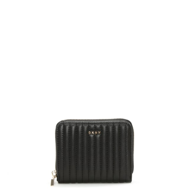 Dkny Gansevoort Small Black Quilted Leather Carryall Wallet