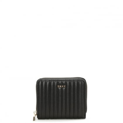 Gansevoort Small Black Quilted Leather Carryall Wallet