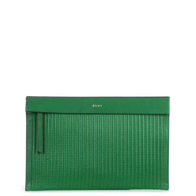 Gansevoort Viridian Leather Pouch