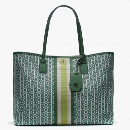 338d116c26d6b6 Gemini Link Canvas Arugula Tote Bag. Free Standard UK Delivery. Tory Burch  ...