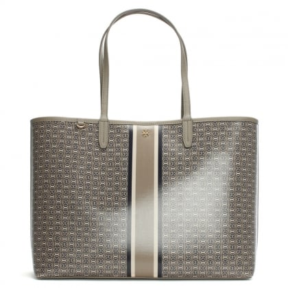 Gemini Link Stripe French Grey Coated Canvas Tote Bag