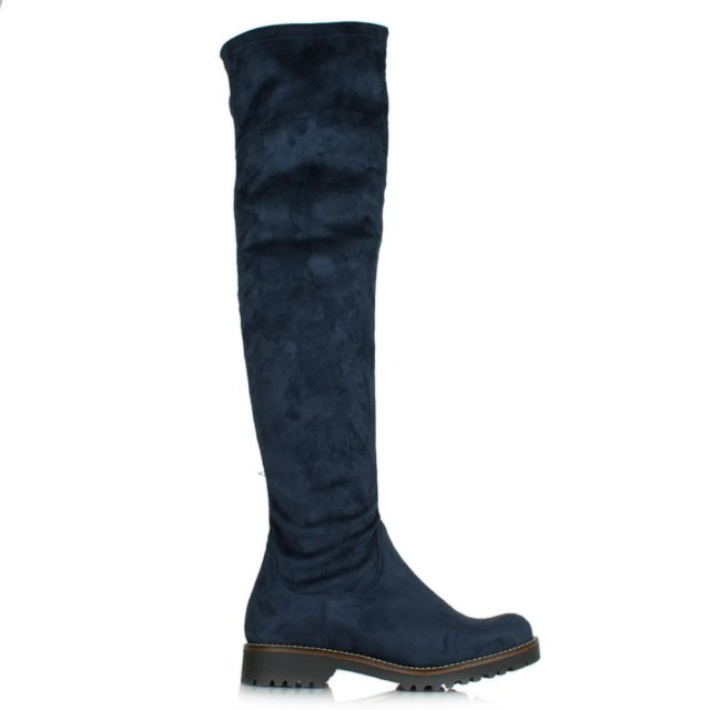 Gerius Navy Knee High Boots