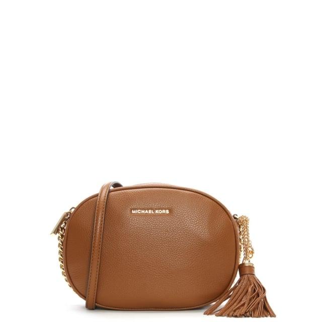 da63ebadbebb Michael Kors Ginny Medium Luggage Leather Messenger Bag