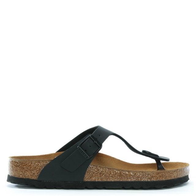 9b4510bb311 Birkenstock Gizeh Black Birko-Flor Toe Post Sandals