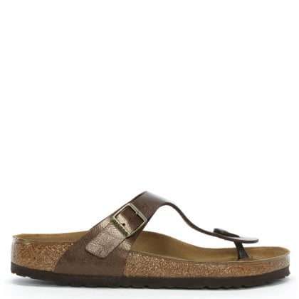 Gizeh Graceful Toffee Leather Toe Post Sandals