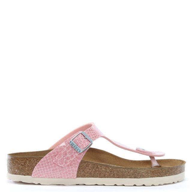 Gizeh Magic Snake Rose Toe Post Sandals