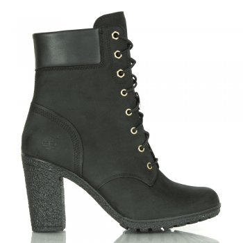 Glancy Black Leather Ankle Boot