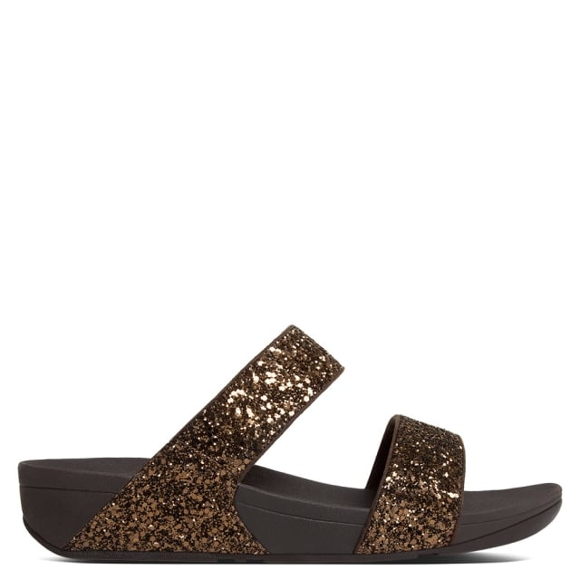 glitterball-bronze-slide-sandals