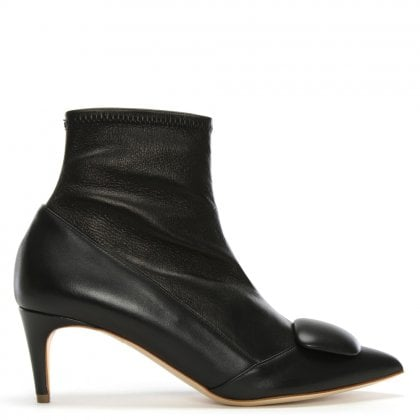 Glynn Black Leather Ankle Boots