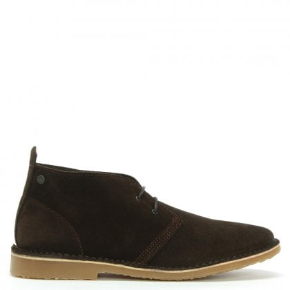 Gobi Brown Suede Lace Up Desert Boots