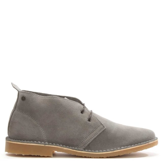 Gobi Grey Suede Lace Up Desert Boot
