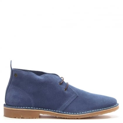 Gobi Navy Suede Lace Up Desert Boot
