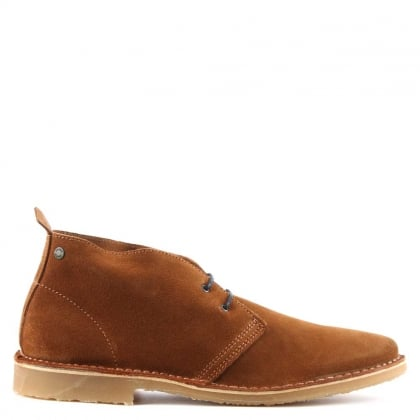 Gobi Tan Suede Lace Up Desert Boot
