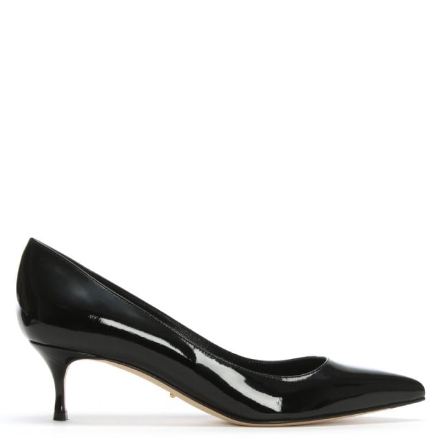 Godiva 50 Black Patent Leather Court Shoes