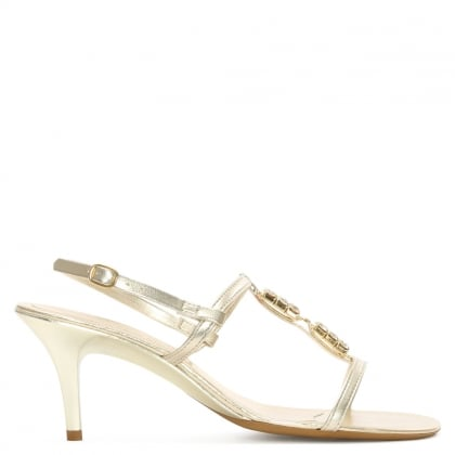 Gold Jewelled Strappy Sandal