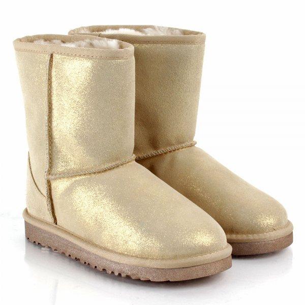 Gold Kids Classic Glitter Kids Boot