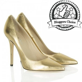 Gold Metallic Mustio Court Shoes
