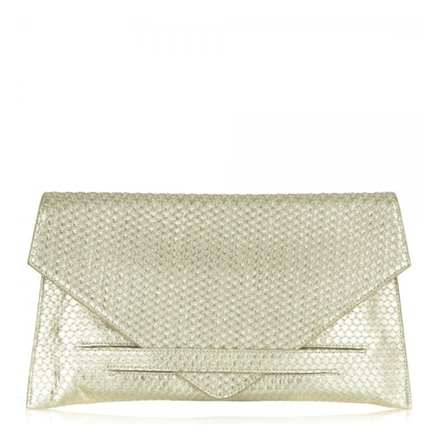 Gold Reptile Women's Envelope Clutch