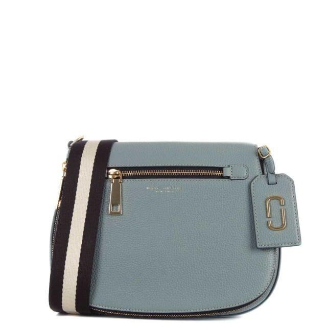 6adc132fa0 Marc Jacobs Gotham City Dolphin Blue Leather Saddle Bag