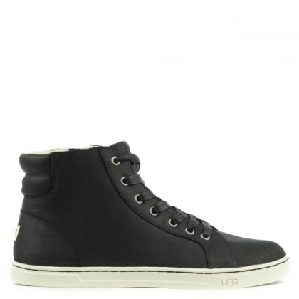 Gradie 2 Black Leather High Top Trainer