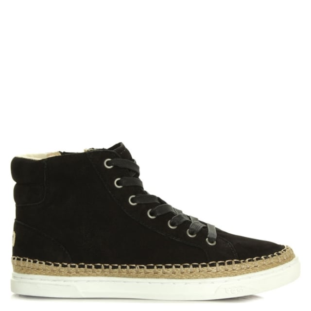 Gradie Black Nubuck Lace Up High Top Trainer