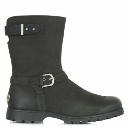 Grandle Black Women's Buckle Calf Boot