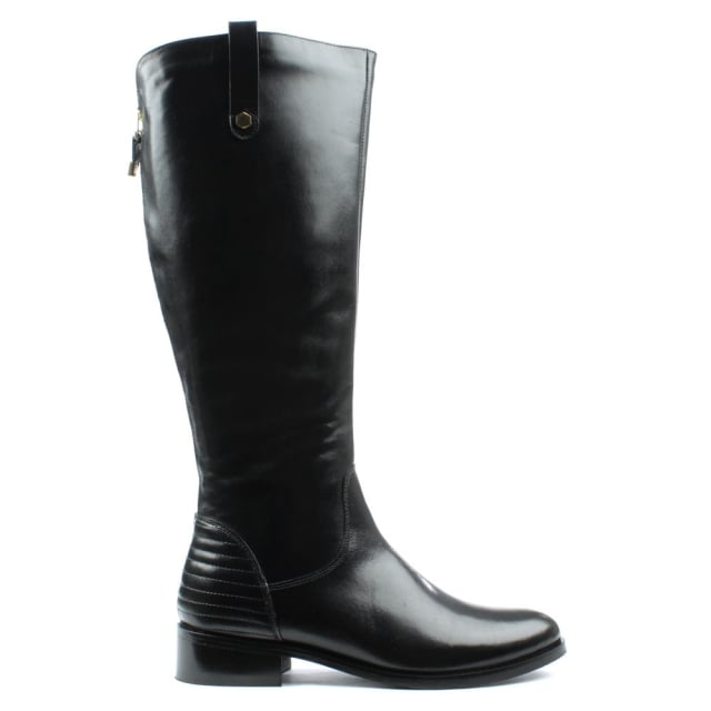 Grassmere Black Leather Tall Flat Riding Boot