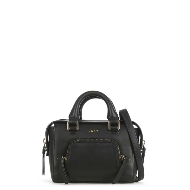 Greenwich Black Leather Mini Satchel