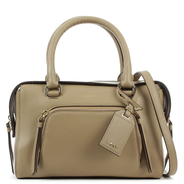 Greenwich Natural Leather Pocket Satchel