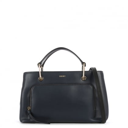 Greenwich Small Classic Navy Leather Satchel Bag