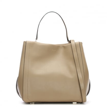 Greenwich Smooth Natural Leather Bucket Bag