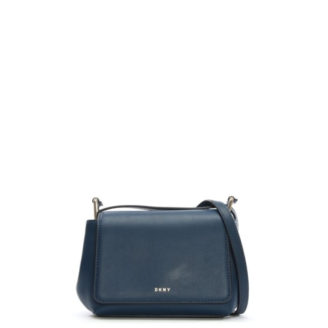 Greenwich Smooth Navy Leather Mini Flap Cross-Body Bag