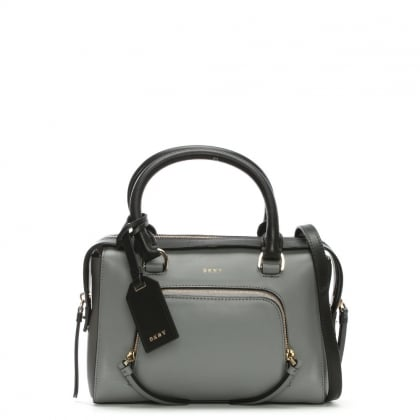 Greenwich Smooth Small Grey Leather Satchel Bag