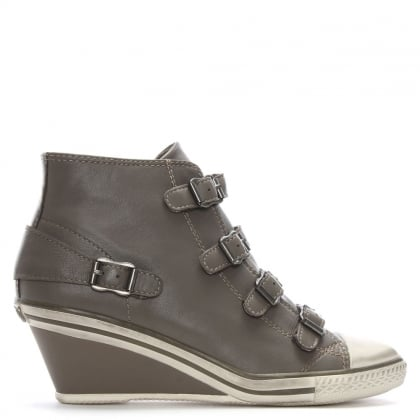 Grey Ash Genial Womens Wedge Trainer