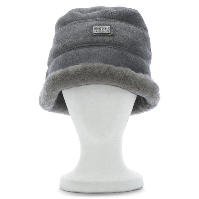 820ba6fd9 Grey Double Faced Sheepskin Bucket Hat